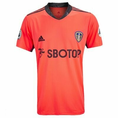 Leeds United Away Orange Goalkeeper Soccer Jersey 20/21