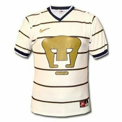 1997-1998 Pumas UNAM Home White Soccer Jersey