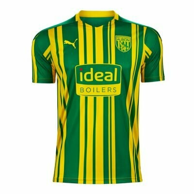 20-21 West Bromwich Away Yellow & Green Soccer Jersey