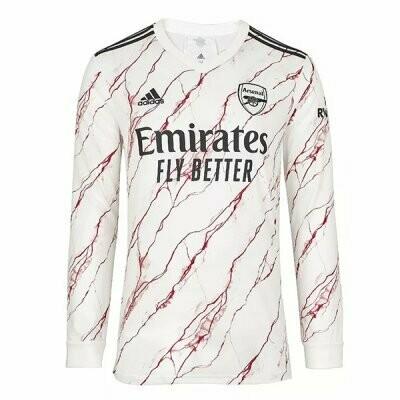 Arsenal Away Long Sleeve Soccer Jersey 20-21