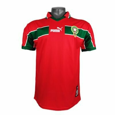 1998 Morocco Home Red Retro Jersey