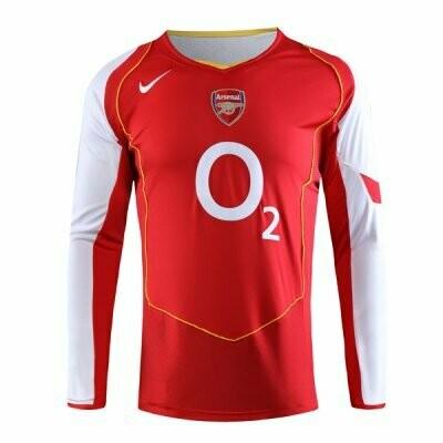 2004-2005 Arsenal Home Long Sleeve Retro Jersey Shirt
