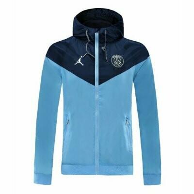 PSG x Jordan Navy&Blue Windrunner Hoodie Jacket 20-21
