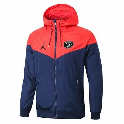 PSG x Jordan Red&Navy Windrunner Hooide Jacket 20-21