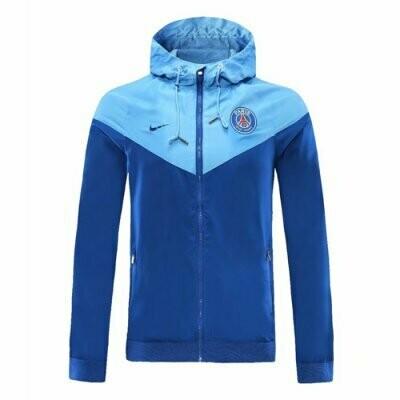 PSG x Jordan SkyBlue Windrunner Hoodie Jacket 20-21