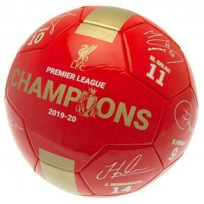 Liverpool FC Premier League Champions Football Signature RG