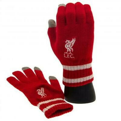 Liverpool FC Touchscreen Knitted Gloves Adult
