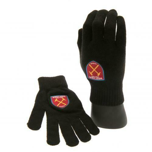 West Ham United FC Knitted Gloves Junior