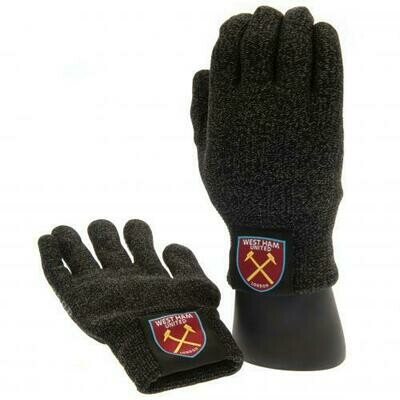 West Ham United FC Luxury Touchscreen Gloves Adult