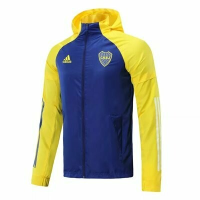 Boca Juniors Yellow&Blue Windrunner Hoodie Jacket 20-21