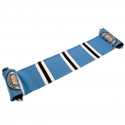 Manchester City FC Stripe Scarf
