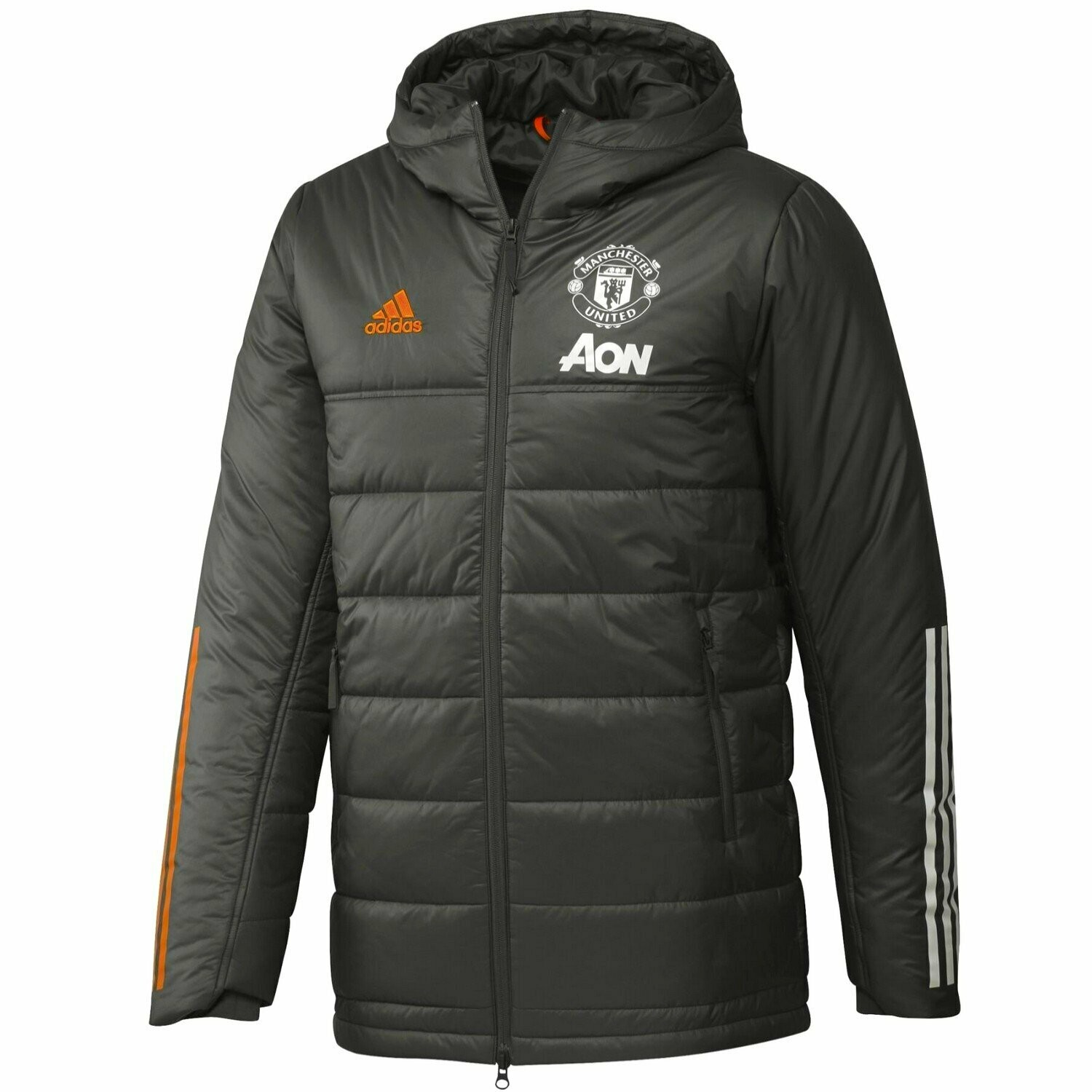 MANCHESTER UNITED SOCCER GREEN BENCH PADDED JACKET 2020/21