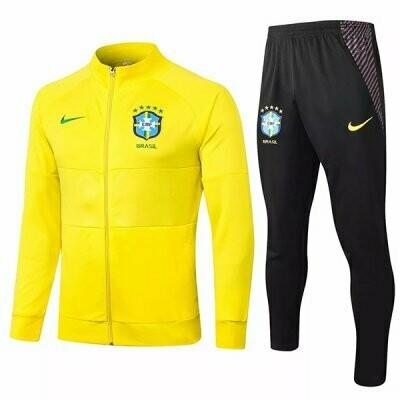 Brazil Yellow Training Jacket Kit 20-21