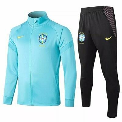 Brazil Blue Training Jacket Kit 20-21