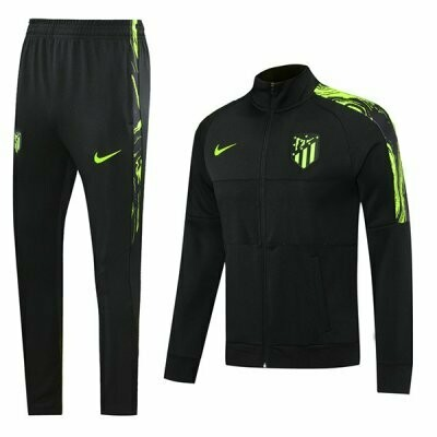 Atletico Madrid Black Training Jacket Kit 20-21