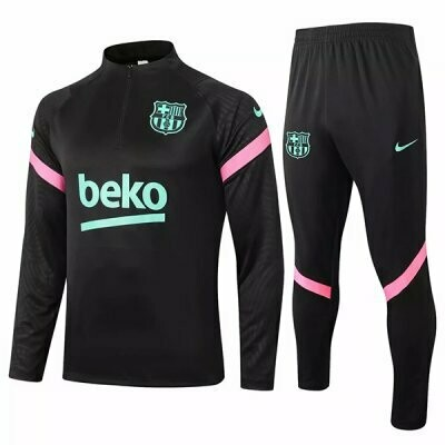 Barcelona Black Training Suit 20-21