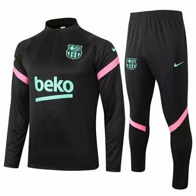 Barcelona Black Training Suit 20-21