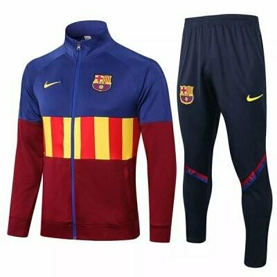 Barcelona Blue& Red Yellow Training Jacket Kit 20-21