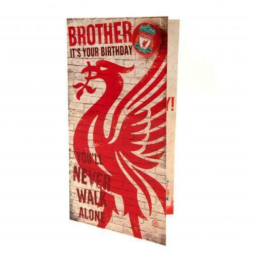Liverpool FC Birthday Card Brother