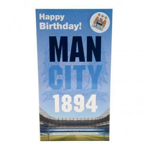Manchester City FC Birthday Card & Badge EST