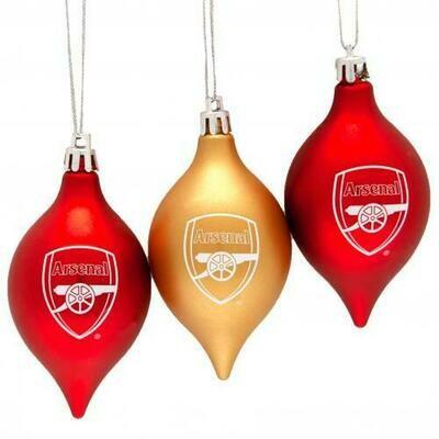 Arsenal FC 3pk Vintage Baubles