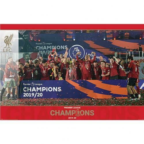 Liverpool FC Premier League Champions Poster Trophy Lift 15