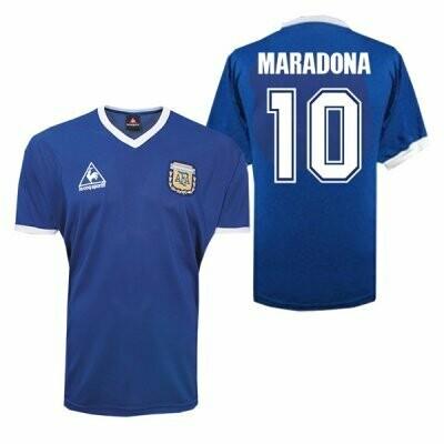 1986 Argentina Away Maradona 10 Retro Jersey #10 (Replica)