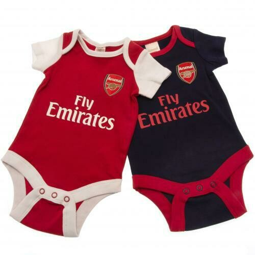Arsenal FC 2 Pack Bodysuit 9/12 mths NR