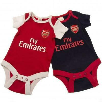 Arsenal FC 2 Pack Bodysuit 6/9 mths NR