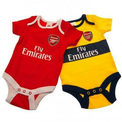 Arsenal FC 2 Pack Bodysuit 12/18 mths YL