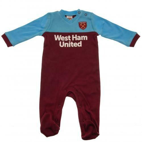 West Ham United FC Sleepsuit 9/12 mths ST