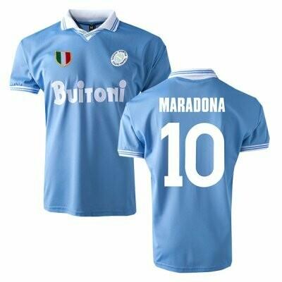 1986-1987 Napoli Home Retro Shirt Print MARADONA #10