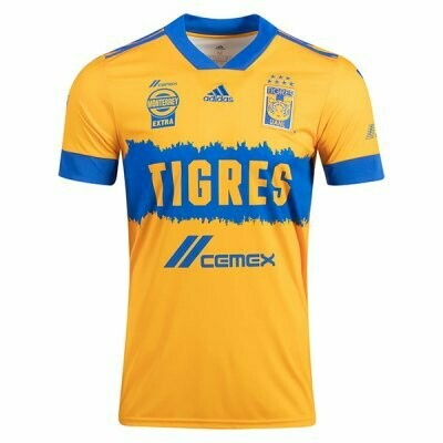 20-21 Tigres UANL Home Yellow Soccer Jersey