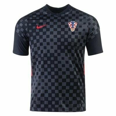 20-21 Croatia Away Black Soccer Jersey