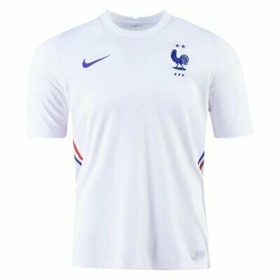 2020 France Away White Soccer Jersey Shirt