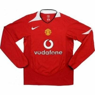 Manchester United Home Long Sleeve Retro Shirt 2004-06
