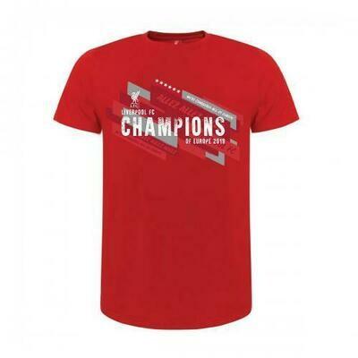 Liverpool FC Champions Of Europe T Shirt Junior