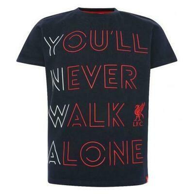 Liverpool FC YNWA T Shirt Junior Navy