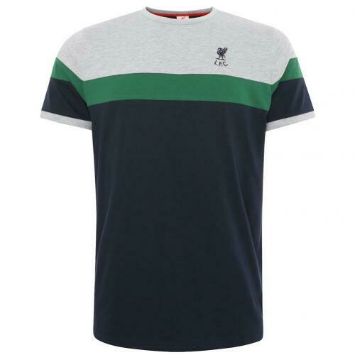 Liverpool FC Retro Panel T Shirt Mens Navy