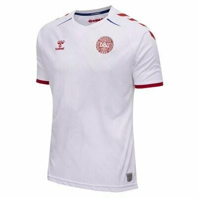 2021 Denmark Away White Soccer Jersey