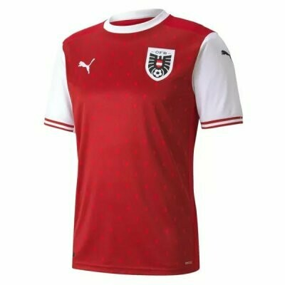 Austria Home Red Soccer Jersey 20-21