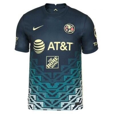 21-22 Club America Navy Away Jersey Shirt