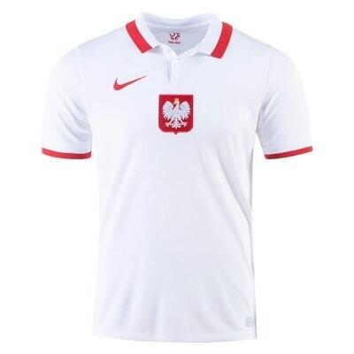 20-21 Poland Home White Soccer Jersey Shirt