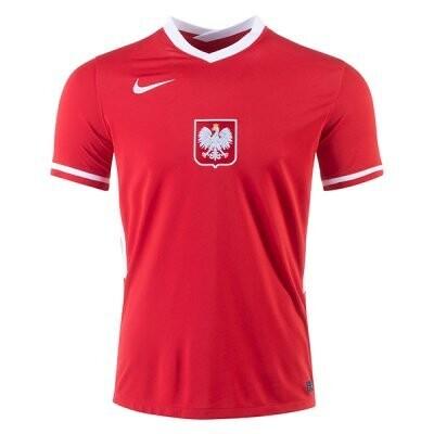 20-21 Poland Away Red Soccer Jersey Shirt