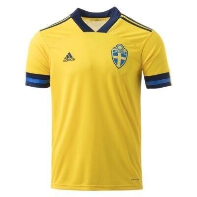 2020 Sweden Home Soccer Jersey Shirt