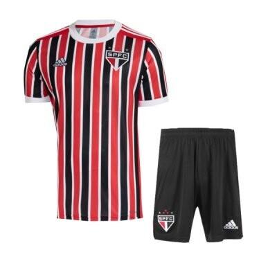 21-22 Sao Paulo FC Away Jersey Kids Kit