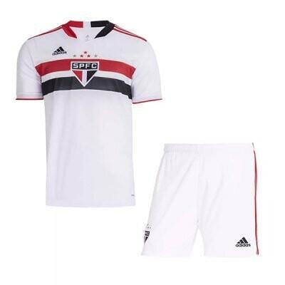 21-22 Sao Paulo FC Home Jersey Kids Kit