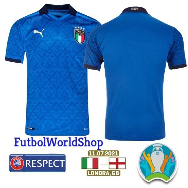Italy Home Euro Cup Final Jersey 2020