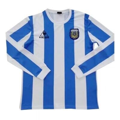 1986 Argentina Home Long Sleeve Retro Jersey