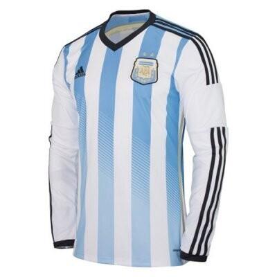 2014 Argentina Home Long Sleeve Retro Jersey